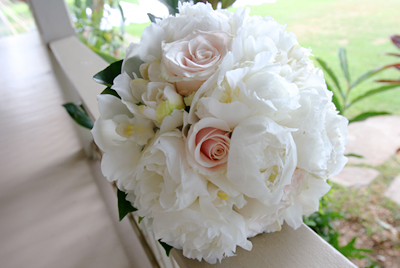 fluffy white bouquet for bride