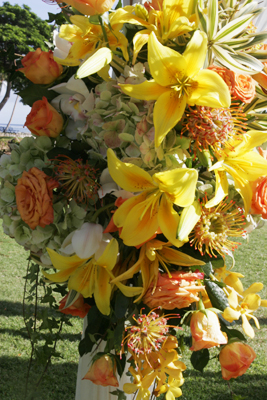 Floral designs by Blue Sky Weddings