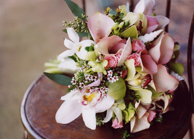 wedding bouquet with shells