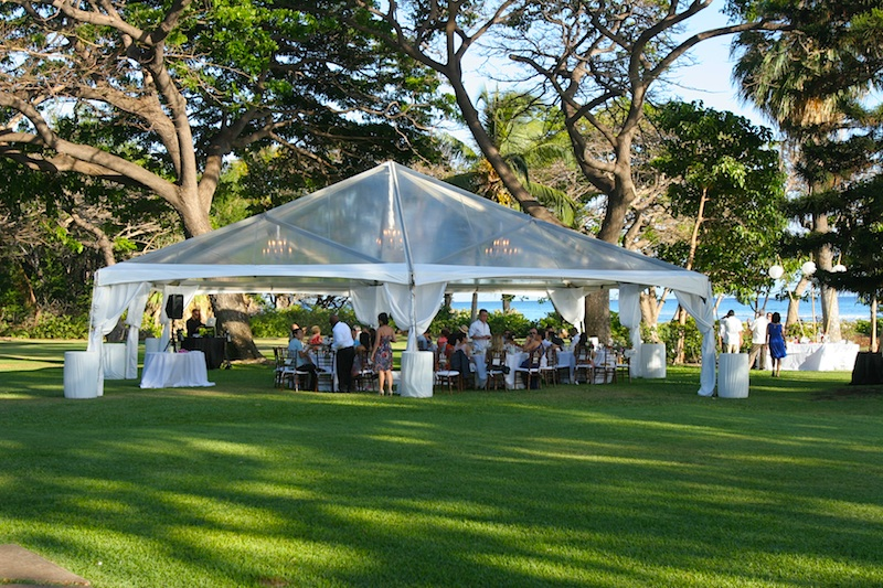 Clear top tent at Olowalu