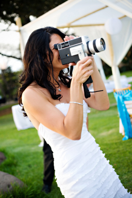 Vintage 60's super8 camera at this Olowalu wedding in Lahaina Maui